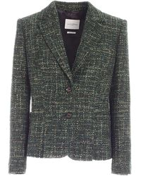 Ballantyne Bouclé Tweed Jacket - Green