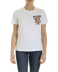 Moschino Teddy Bear Frame Print T-shirt - White