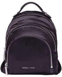 Kendall + Kylie - Black Sloane Satin Backpack - Lyst