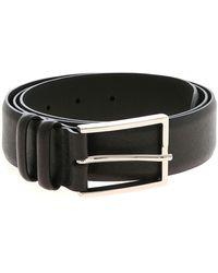 Orciani Cintura Basic Saffiano nera - Nero
