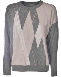 Peserico - Diamond Pattern Pullover - Lyst