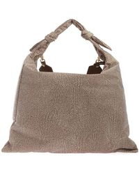 Borbonese Printed Shoulder Bag - Natural