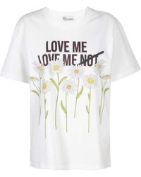 RED Valentino Daisy T-shirt - White