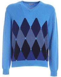 Ballantyne Ilay Cashmere Pullover - Blue