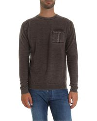 Jacob Cohen Dark Brown Pullover With Pocket