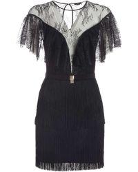 Elisabetta Franchi All-over Lace Dress - Black