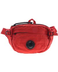 C P Company Waist Bag In Red Technical Fabric