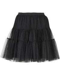 RED Valentino - Polka Dot Tulle Flounced Skirt - Lyst
