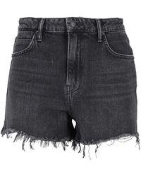 Alexander Wang Faded Denim Shorts - Gray