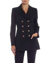 Philosophy Di Lorenzo Serafini Black Jacket With Gold Buttons