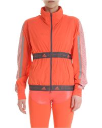 8c7fc894e6d4 adidas By Stella McCartney - Run Adidas Coral Colour Jacket - Lyst