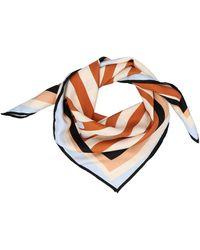 Fendi - Pequin Print Silk Scarf - Lyst