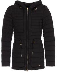 Woolrich Hibiscus Hooded Puffer Jacket - Black