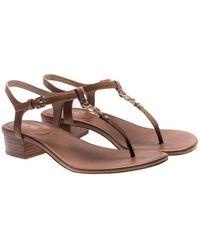Michael Kors - Brown Cayla Flip-flop Sandals - Lyst
