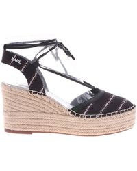 Karl Lagerfeld Kamini Wedge Sandals With Logo Print - Multicolor