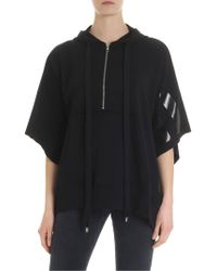 Philosophy Di Lorenzo Serafini Oversized Hooded Sweatshirt In Black