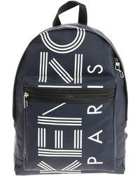 KENZO - Blue Logo Medium Backpack - Lyst