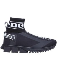 Dolce & Gabbana - Sorrento High Top Sneakers In Black - Lyst