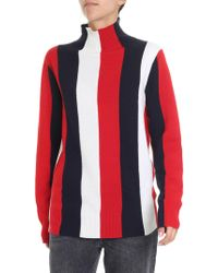 Calvin Klein - Red And White Blue Pullover - Lyst