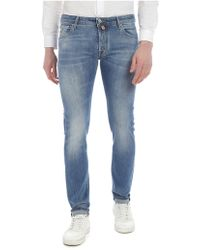 Jacob Cohen - Light Blue Jeans With Worn Shades - Lyst