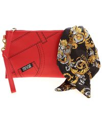 Versace Jeans Couture Foulard Clutch - Red