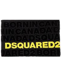 DSquared² Asciugamano Da Mare Logato Nero