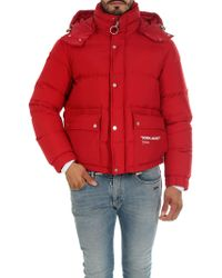 Off-White c/o Virgil Abloh - Quote Puffer Red Down Jacket - Lyst