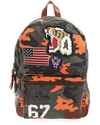 Polo Ralph Lauren Camouflage Print Multicolour Backpack