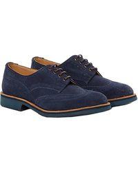"Tricker's ""bourton"" Derby Shoes - Blue"