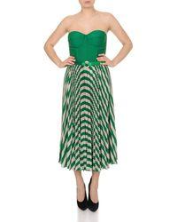 Elisabetta Franchi Sleeveless Dress With Belt - Green