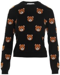 Moschino Teddy Bear Cropped Pullover - Black