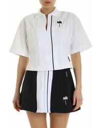 Palm Angels Tennis Track Cropped T-shirt - White
