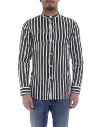 Paolo Pecora - White And Green Striped Shirt - Lyst