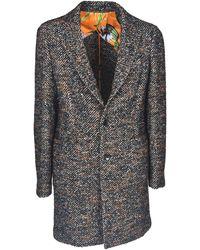 Etro Herringbone Coat - Multicolour