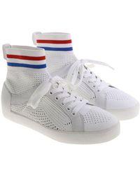 Ash - White Ninja Pierced Sneakers - Lyst