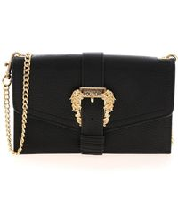Versace Jeans Couture Baroque Buckle Wallet - Black