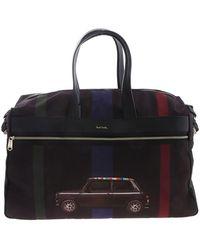 Paul Smith Mini Stripe Travel Bag - Black