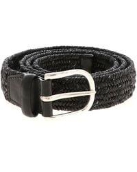 Orciani Cintura Melange in pelle intrecciata nera - Nero
