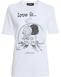 DSquared² Love Is... T-shirt - White