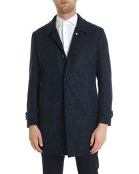 L.B.M. 1911 Single-breasted Coat In Shades Of Blue
