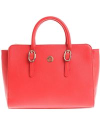 Tommy Hilfiger - Red The Buckle Satchel Bag - Lyst