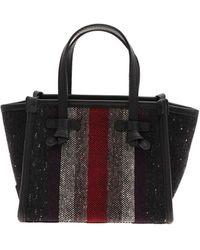 Gianni Chiarini Multicolour Print Handbag - Black
