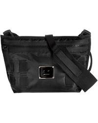 Acne Studios Borsa Logo Plaque Belt Bag Nera - Nero