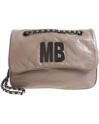 Mia Bag - Taupe Patent Faux-leather Cross-body Bag - Lyst