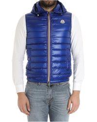 Moncler - Blue Gien Sleeveless Down Jacket - Lyst