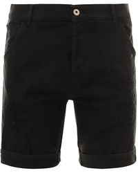 Dondup Black Cotton Bermuda Shorts