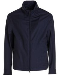 Brioni Zipped Wool Jacket - Blue