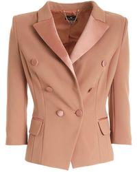 Elisabetta Franchi Double-breasted Blazer - Pink