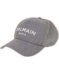Balmain Cappello Da Baseball - Grigio
