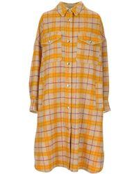 Étoile Isabel Marant Fontia Checked Coat - Yellow